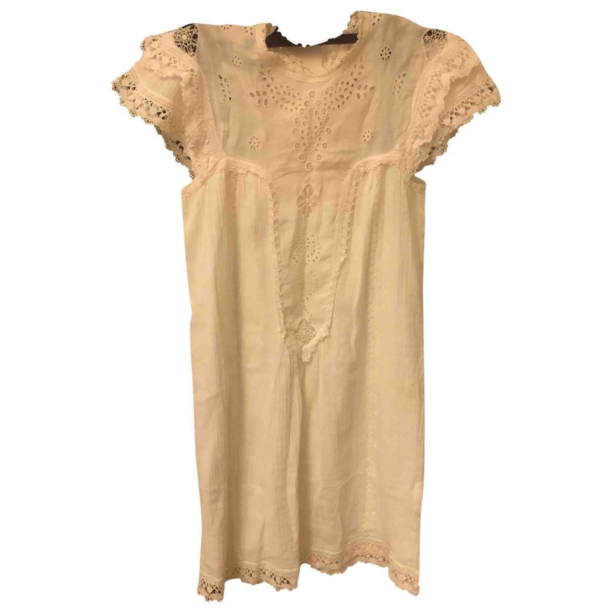 Masscob \N Kleid in  Weiss Baumwolle