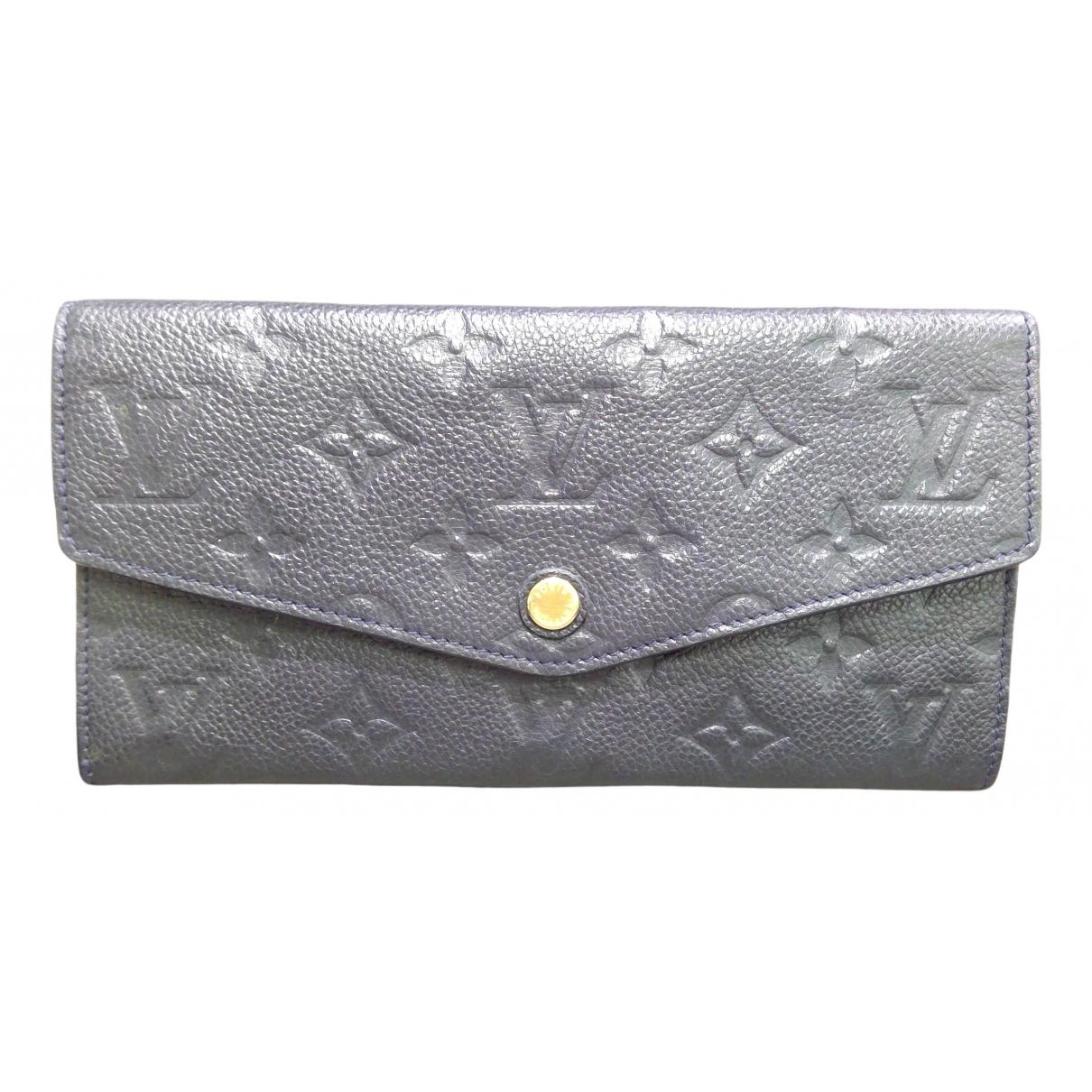 Louis Vuitton - Portefeuille Victorine pour femme en cuir - marine
