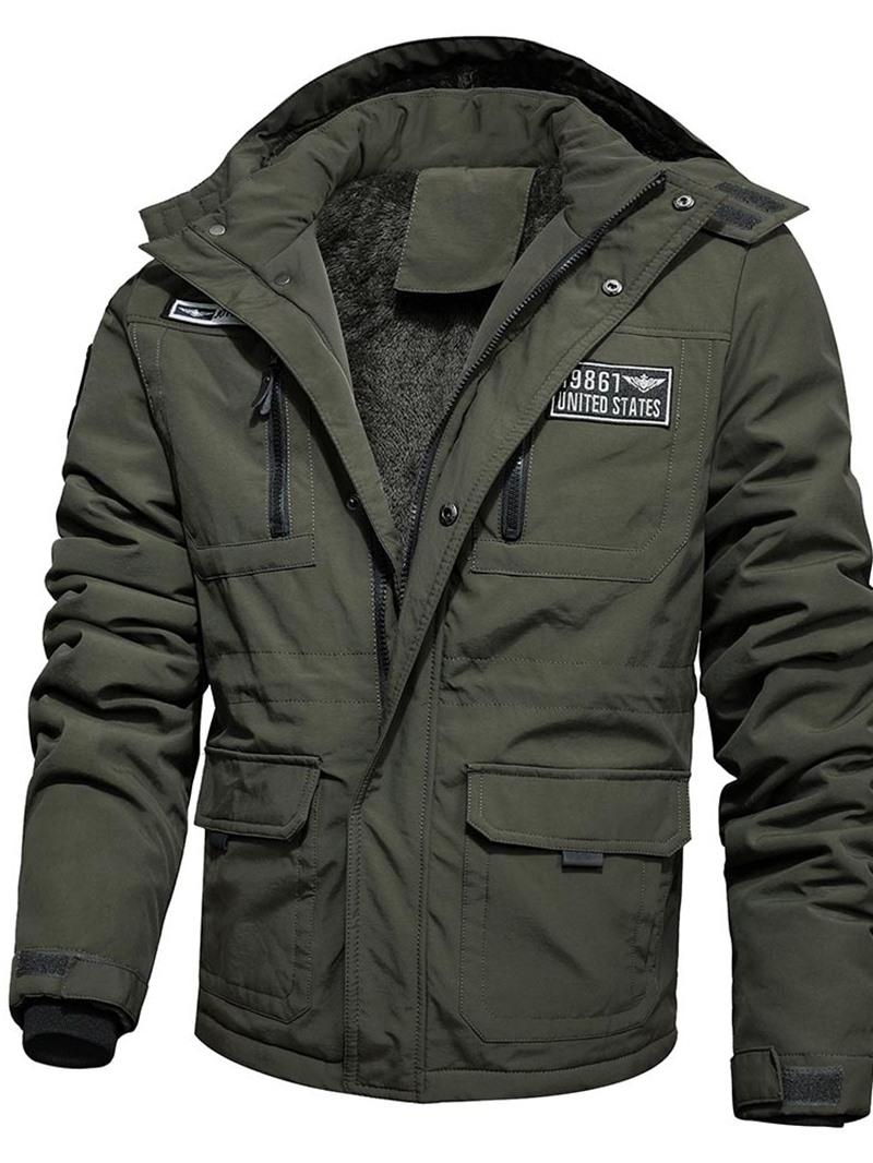 Ericdress Patchwork Block Standard Zipper Casual Men's Down Jacket