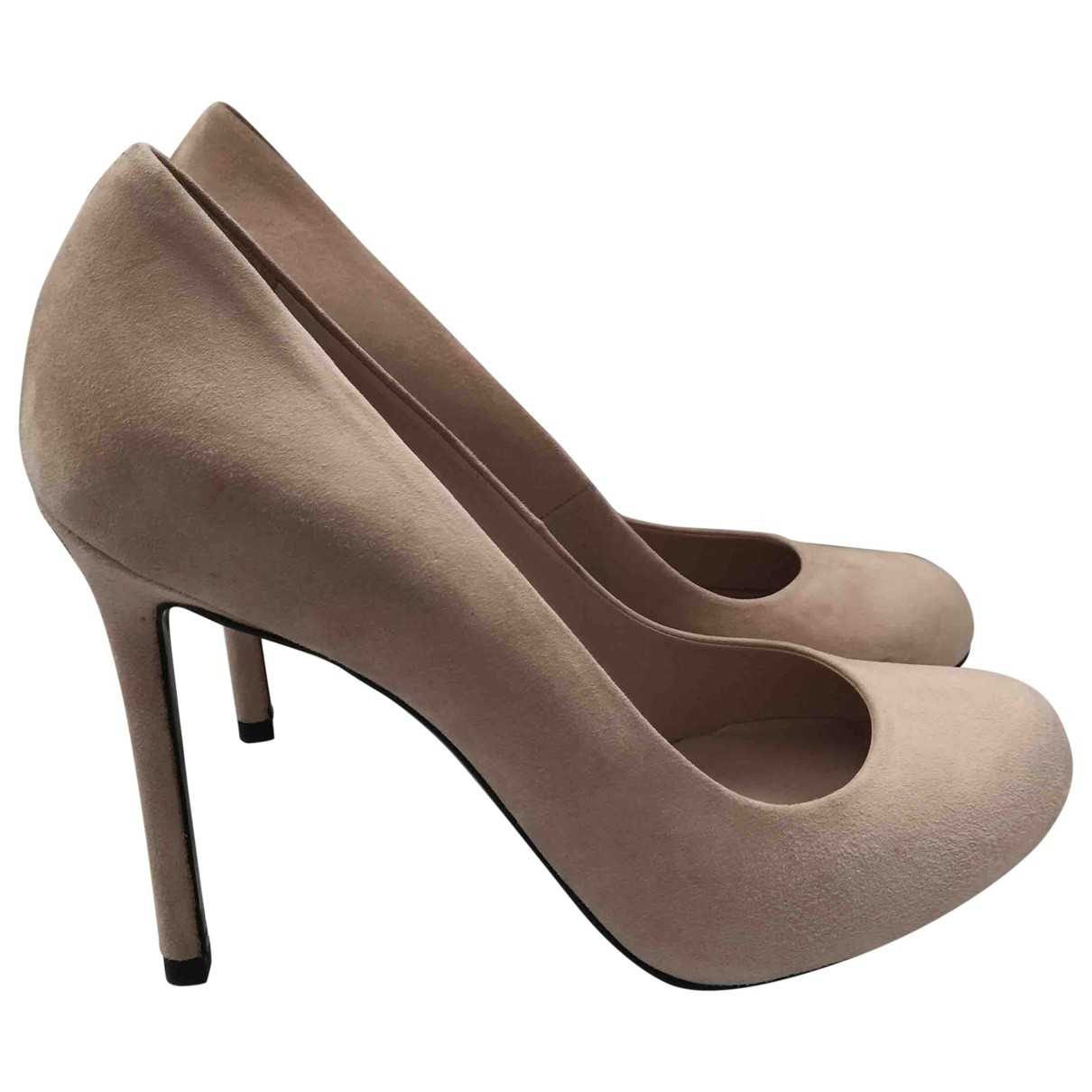 Non Signe / Unsigned \N Pumps in  Beige Veloursleder