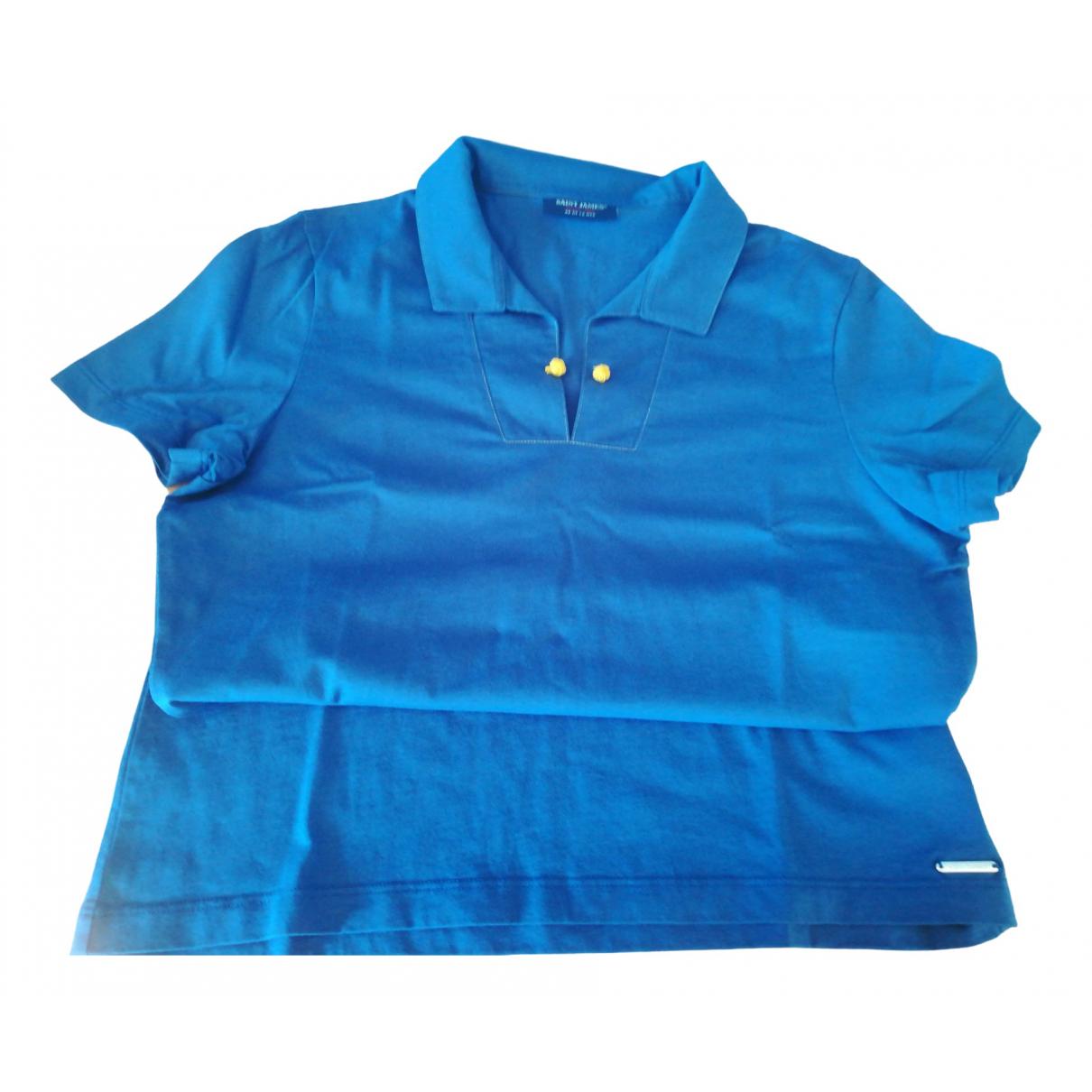 Saint James - Top   pour femme en coton - bleu