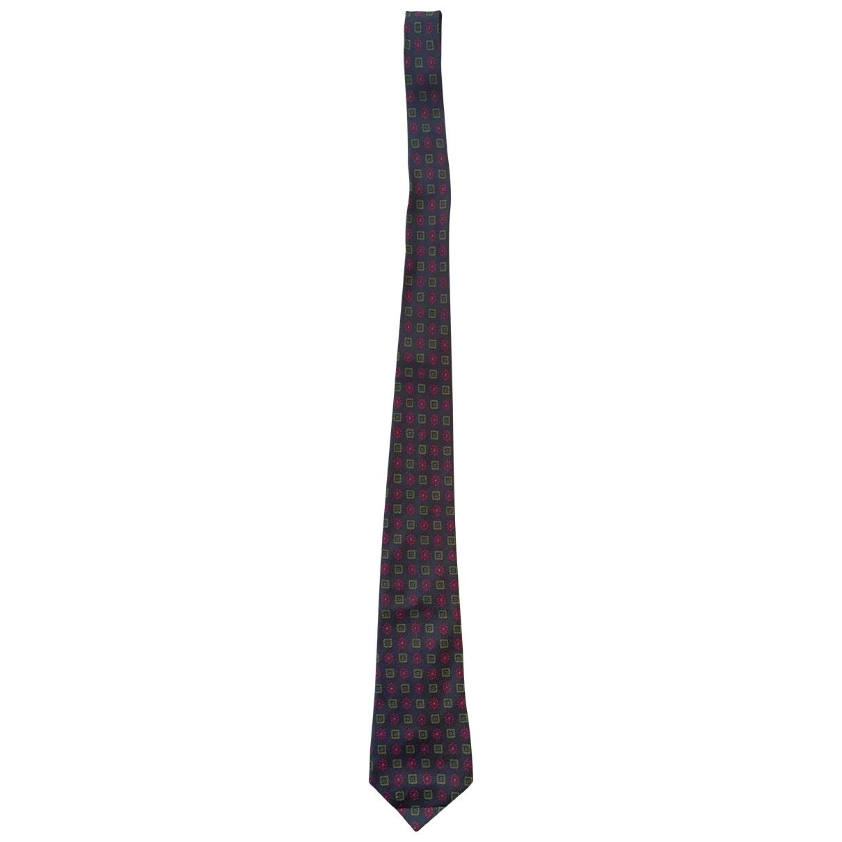 Moschino \N Burgundy Silk Ties for Men \N