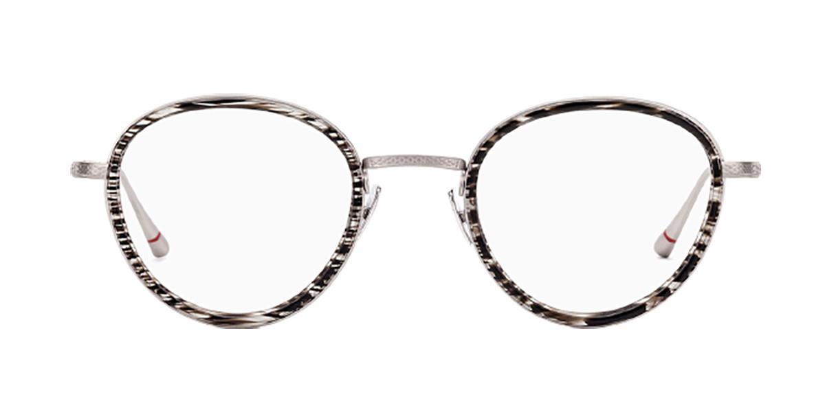 Etnia Barcelona Roxbury SLBK Men's Glasses Silver Size 47 - Free Lenses - HSA/FSA Insurance - Blue Light Block Available