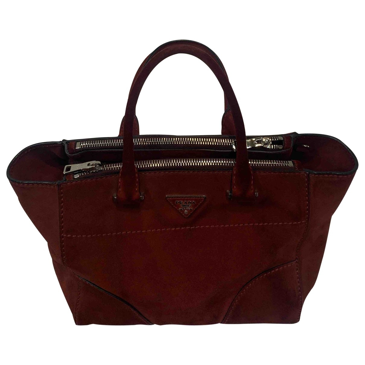 Prada \N Burgundy Suede handbag for Women \N