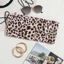 Bandeau Bikini Top mit Leopard Muster