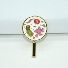 Magnifying Glass Shaped Brooch