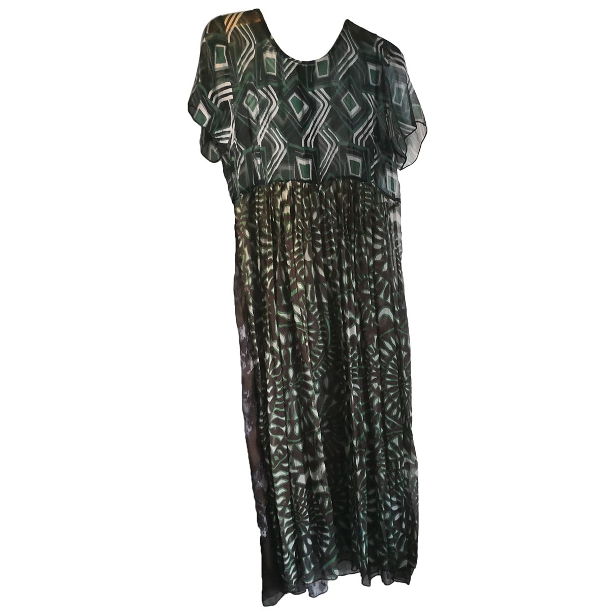 Non Signé / Unsigned \N Multicolour Silk dress for Women 44 FR