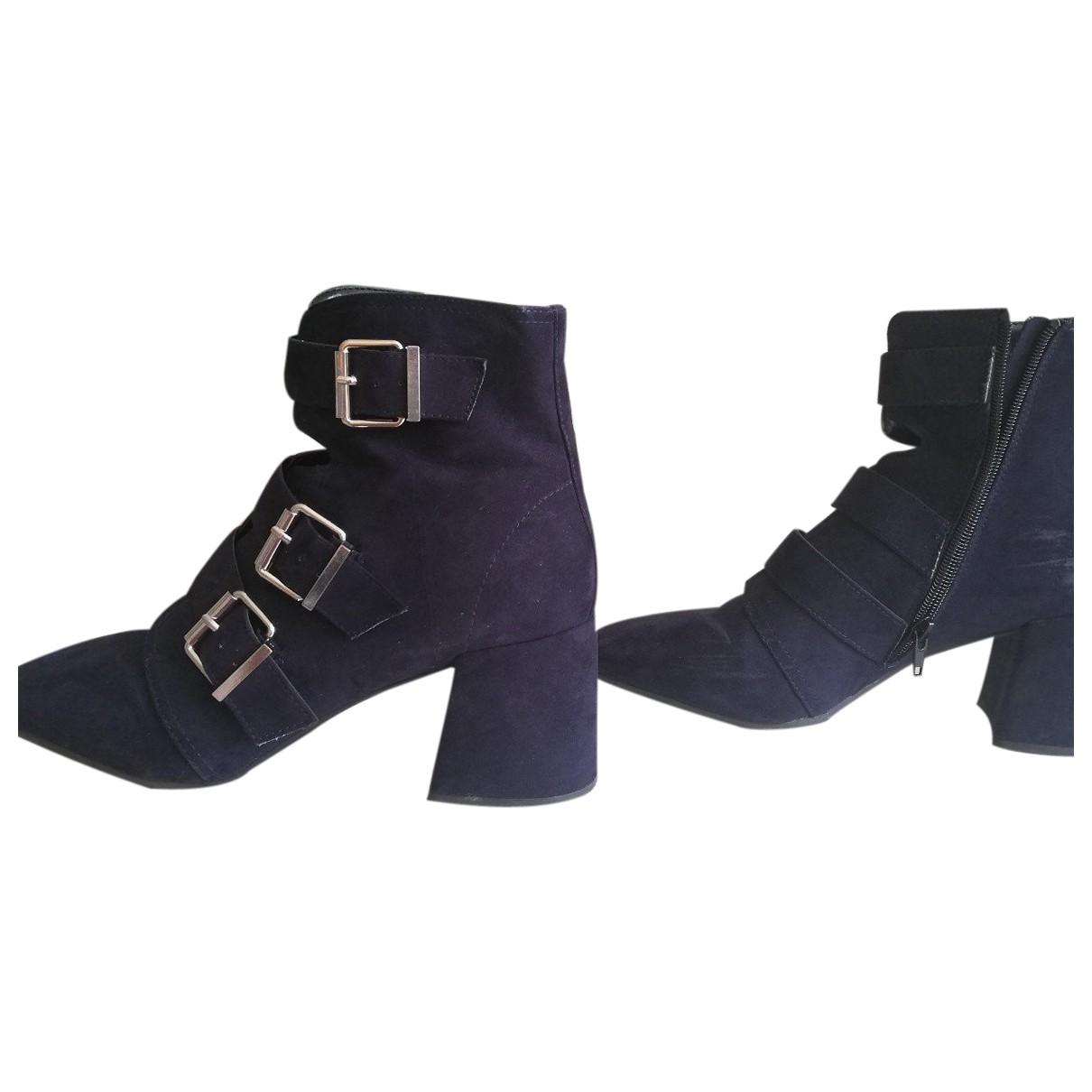 - Boots   pour femme en toile - marine