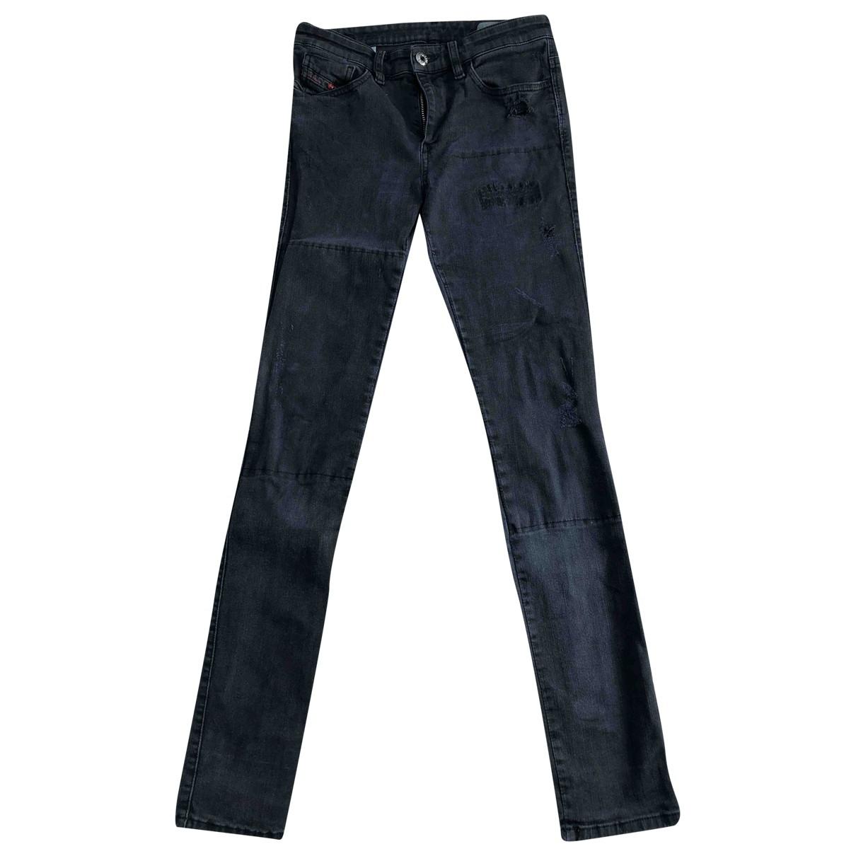 Diesel - Jean   pour femme en coton - elasthane - noir