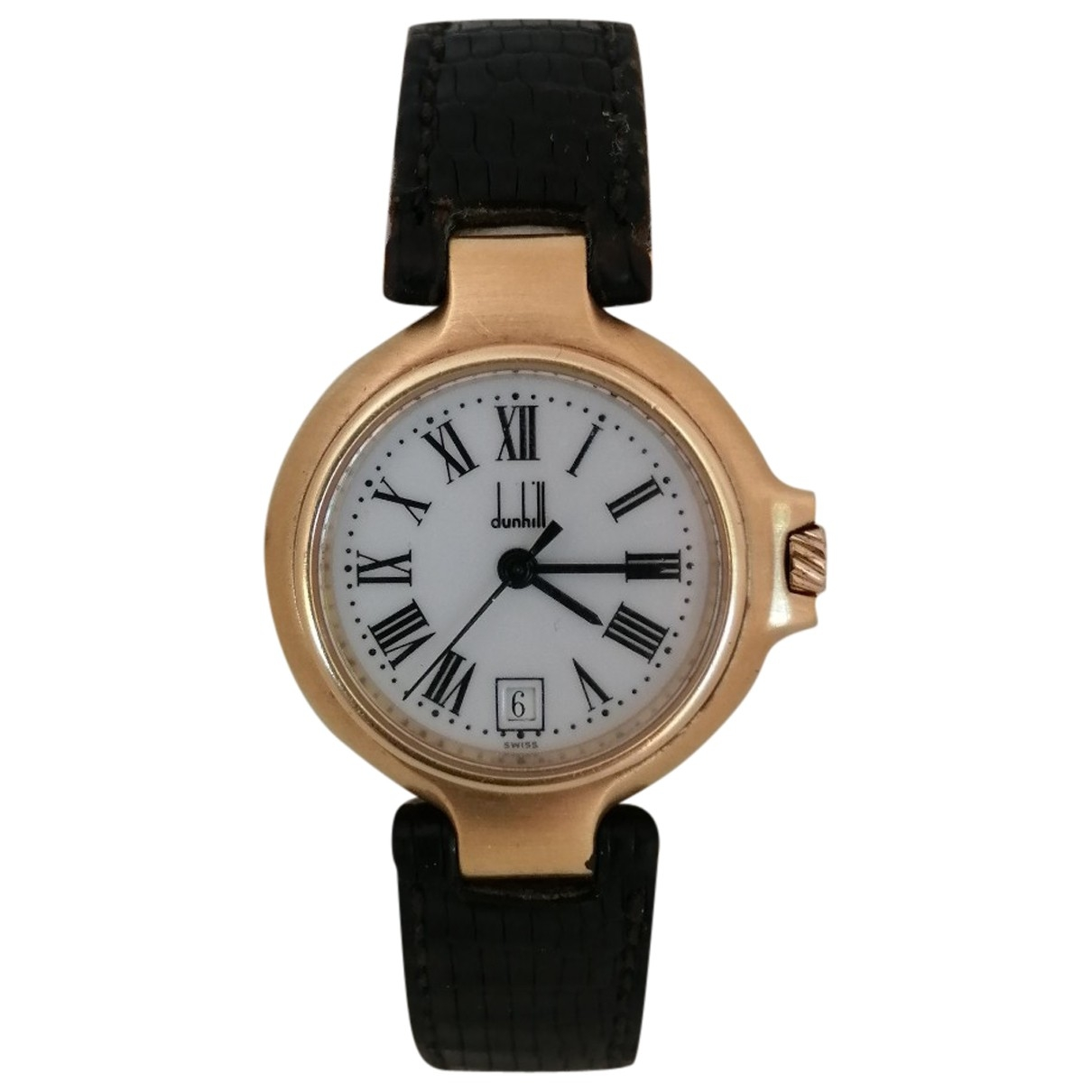 Alfred Dunhill \N Gold Gold plated watch for Women \N