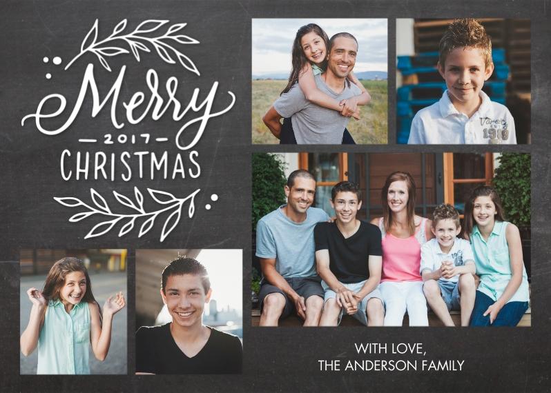 Christmas 5x7 Folded Cards, Standard Cardstock 85lb, Card & Stationery -Christmas Foliage