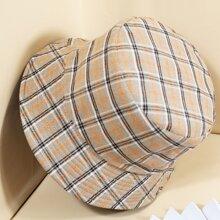 Plaid Reversible Bucket Hat