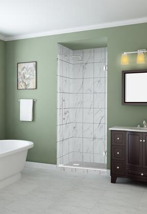 SDR997EZ-SS-36-10 Kinkade 35.75 To 36.25 X 72 Frameless Hinged Shower Door In Stainless
