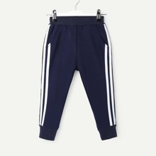 Toddler Boys Striped Side Sweatpants