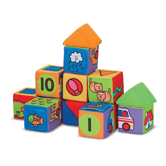Melissa & Doug® Match & Build Soft Blocks | Michaels®