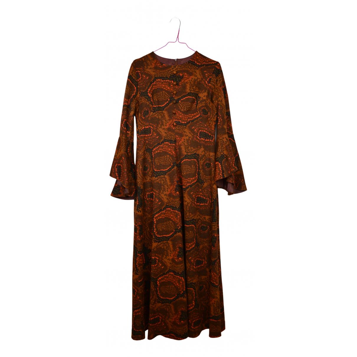 Non Signe / Unsigned \N Kleid in  Orange Baumwolle