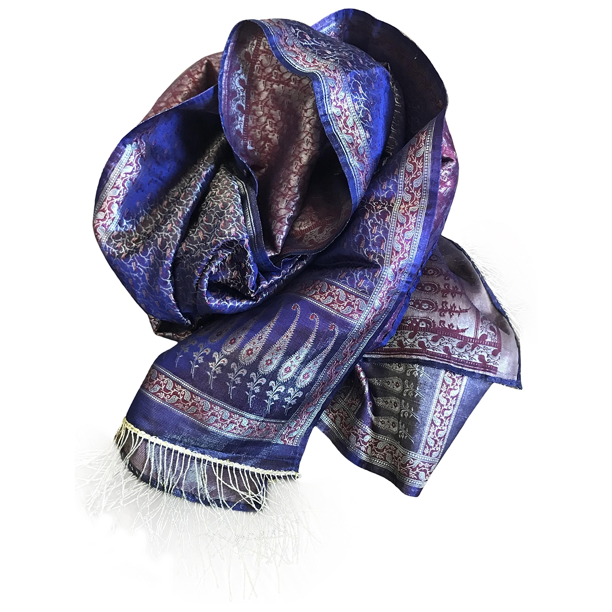 Non Signé / Unsigned \N Purple scarf for Women \N
