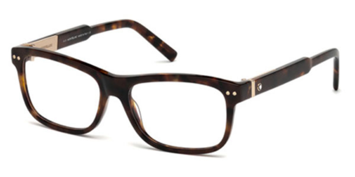 Mont Blanc MB0618 055 Mens Glasses Tortoise Size 56 - Free Lenses - HSA/FSA Insurance - Blue Light Block Available
