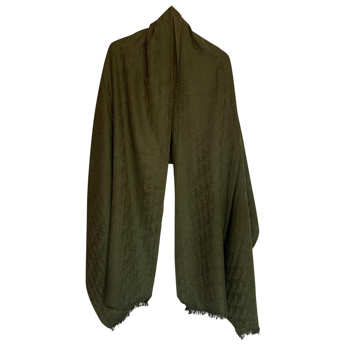 Dior - Foulard   pour femme en cachemire - kaki