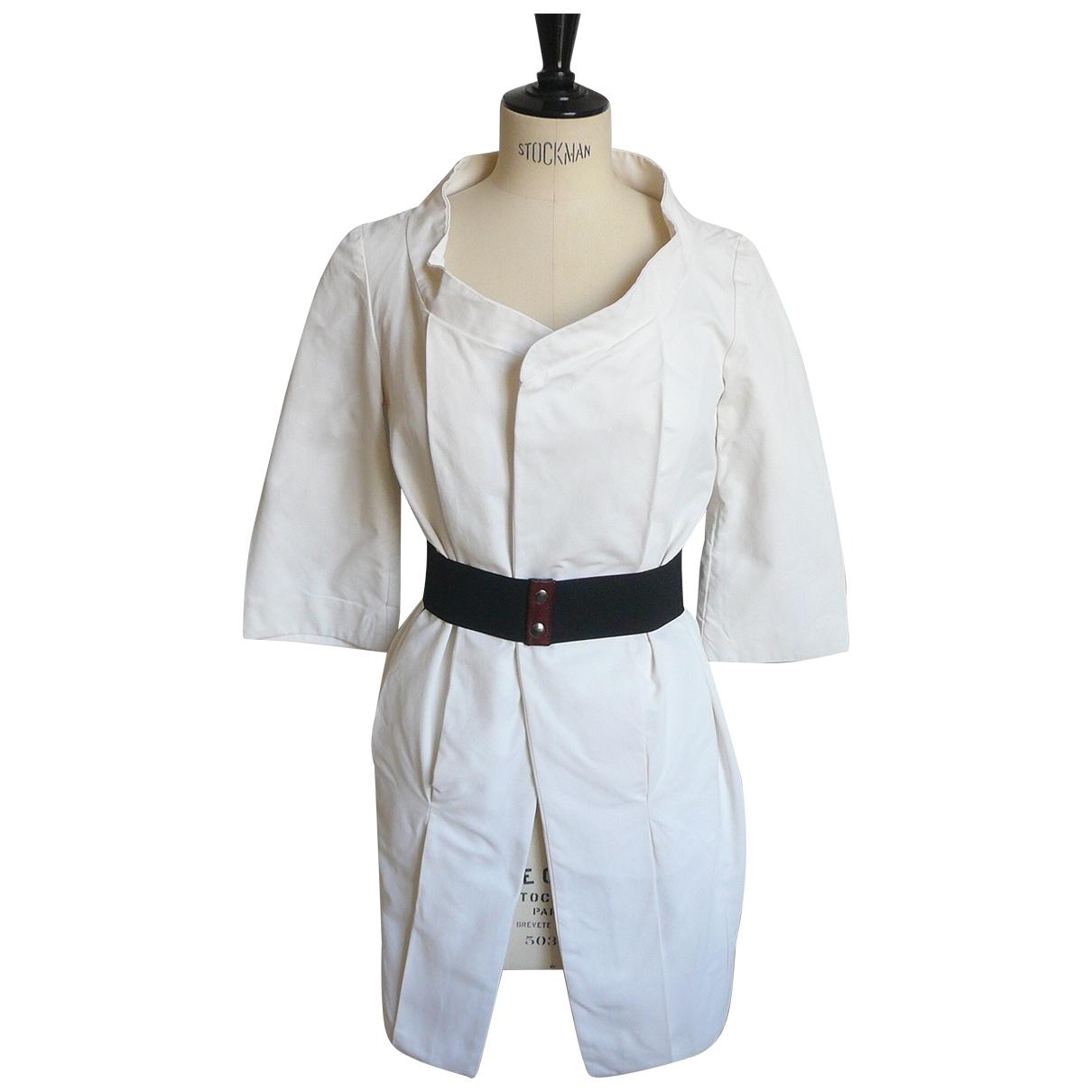 Marni \N White Cotton jacket for Women 38 IT