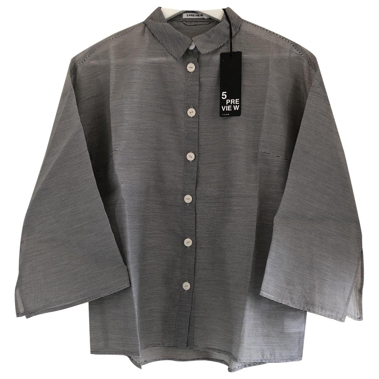 5 Preview - Top   pour femme en coton - gris
