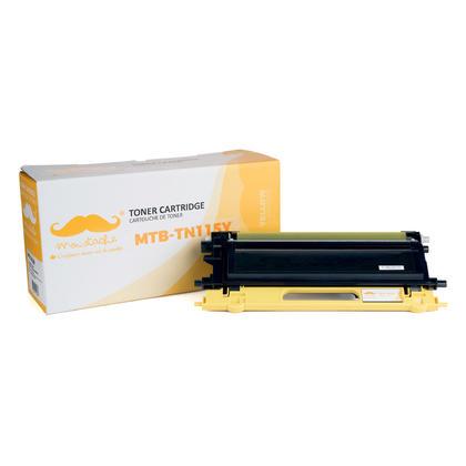 Compatible Brother TN115Y cartouche de toner jaune haute capacite - Moustache