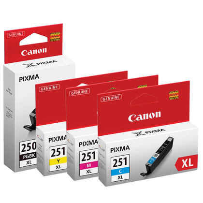 Canon PIXMA MG6400 Original Ink Cartridges PGBK/C/M/Y Combo, 4 pack - High Yield
