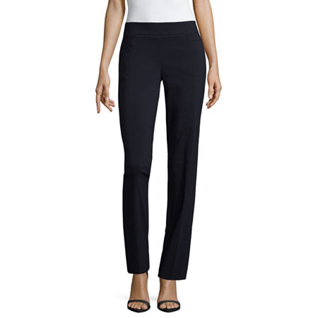 Liz Claiborne Womens Straight Pull-On Pants, 18 , Blue
