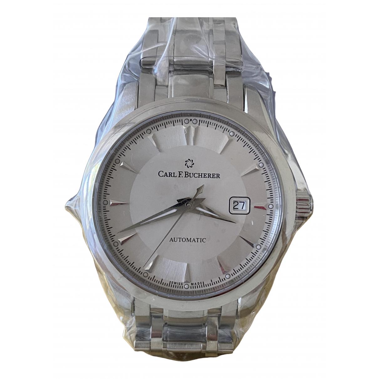 Carl F. Bucherer \N Uhr in  Silber Stahl