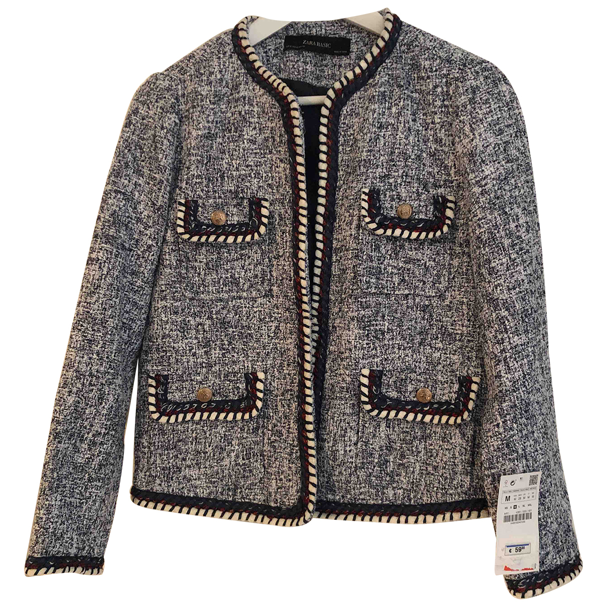Zara \N Blue jacket for Women M International