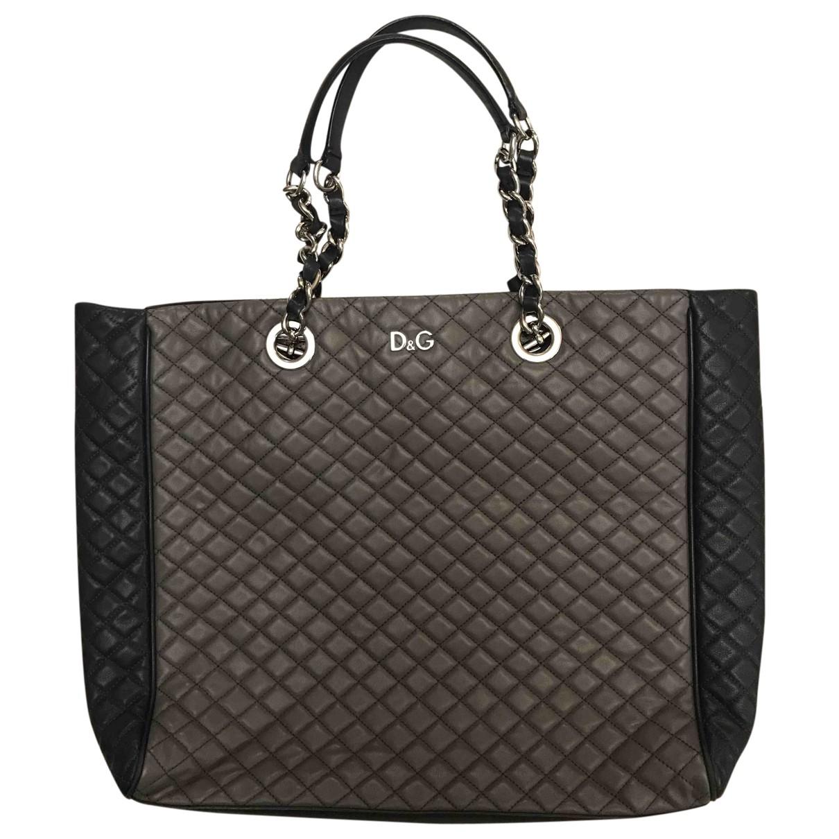 D&g \N Handtasche in  Grau Leder