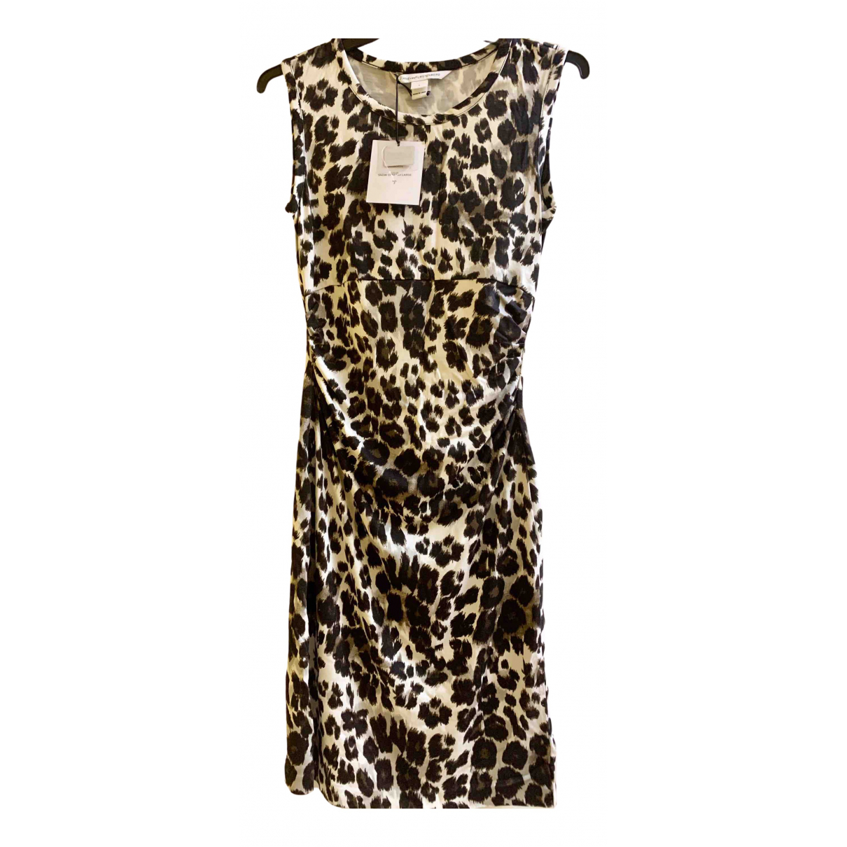 Diane Von Furstenberg \N Brown Silk dress for Women 2 US