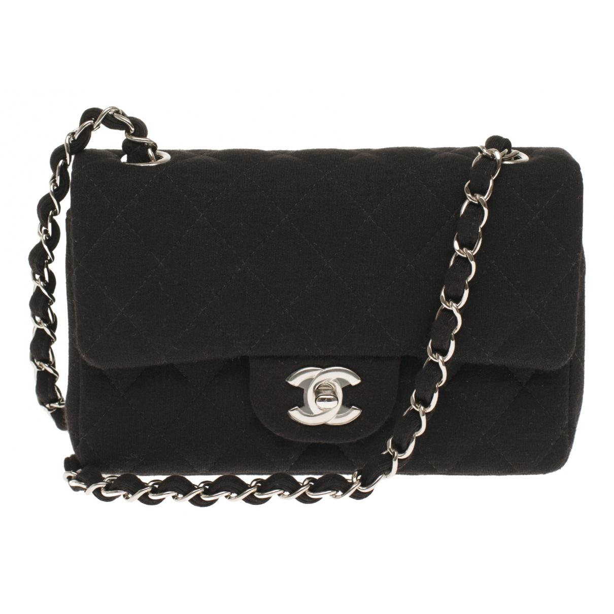 Chanel Timeless/Classique Black Cloth handbag for Women N