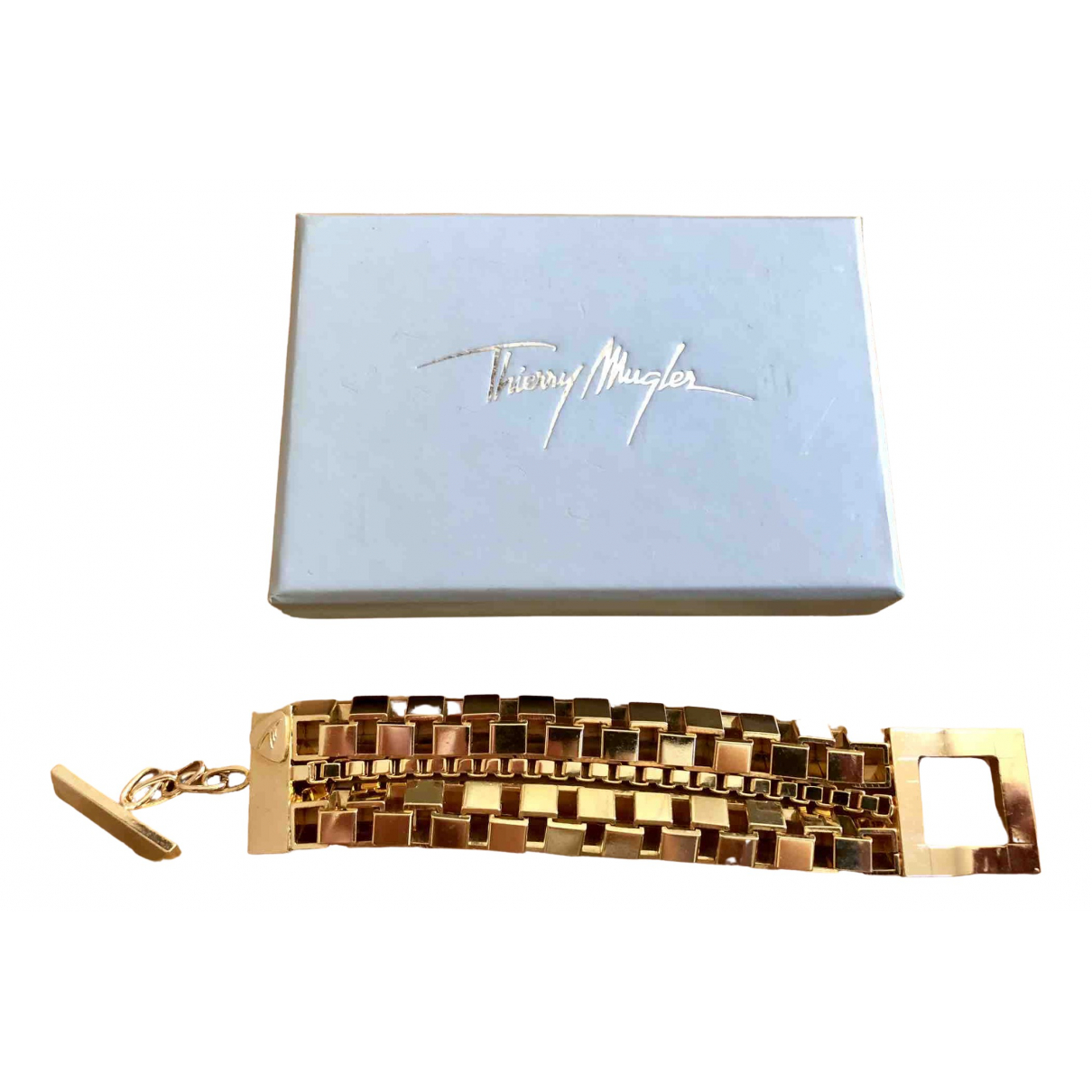 Thierry Mugler \N Gold Metal bracelet for Women \N