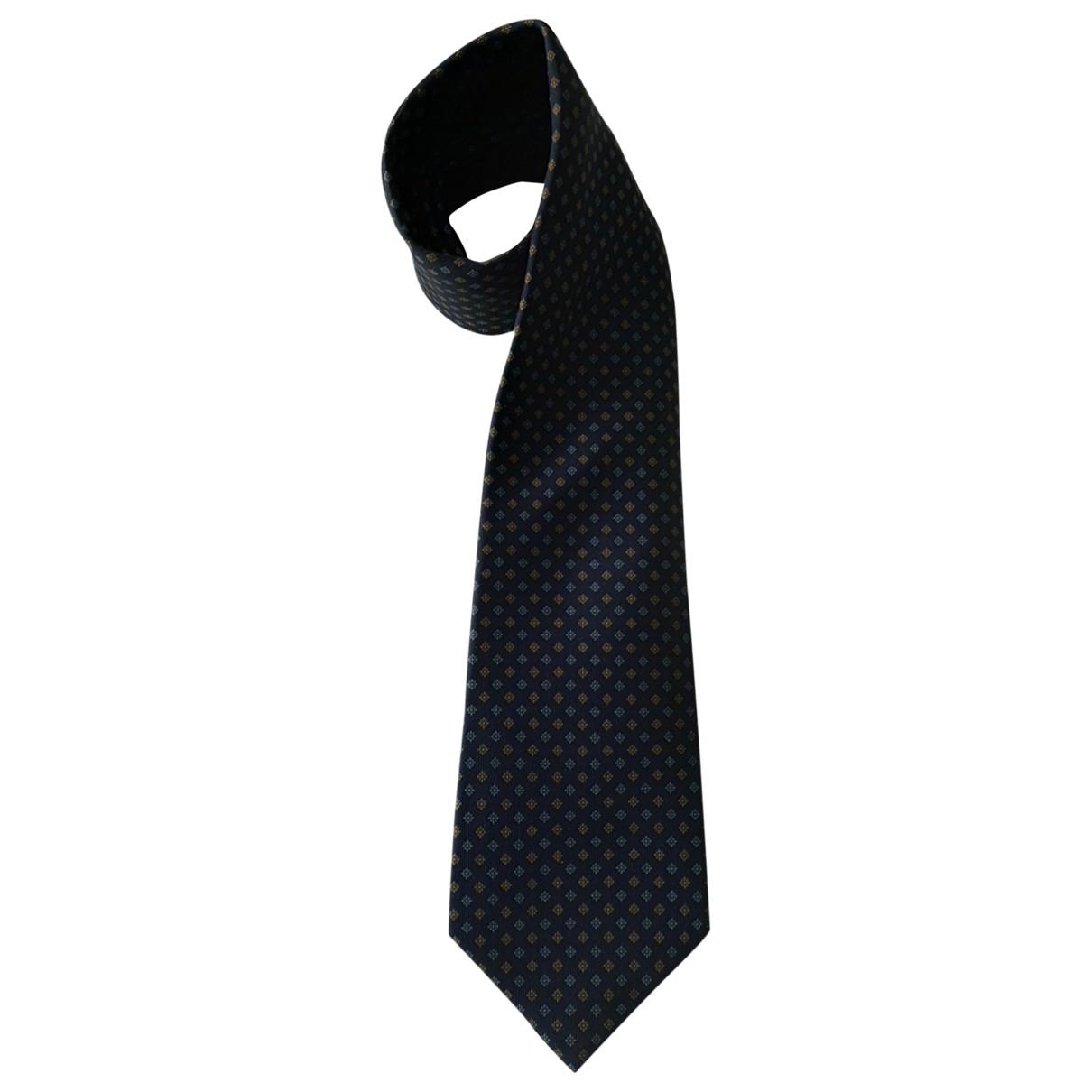 Drakes - Cravates   pour homme en soie - bleu