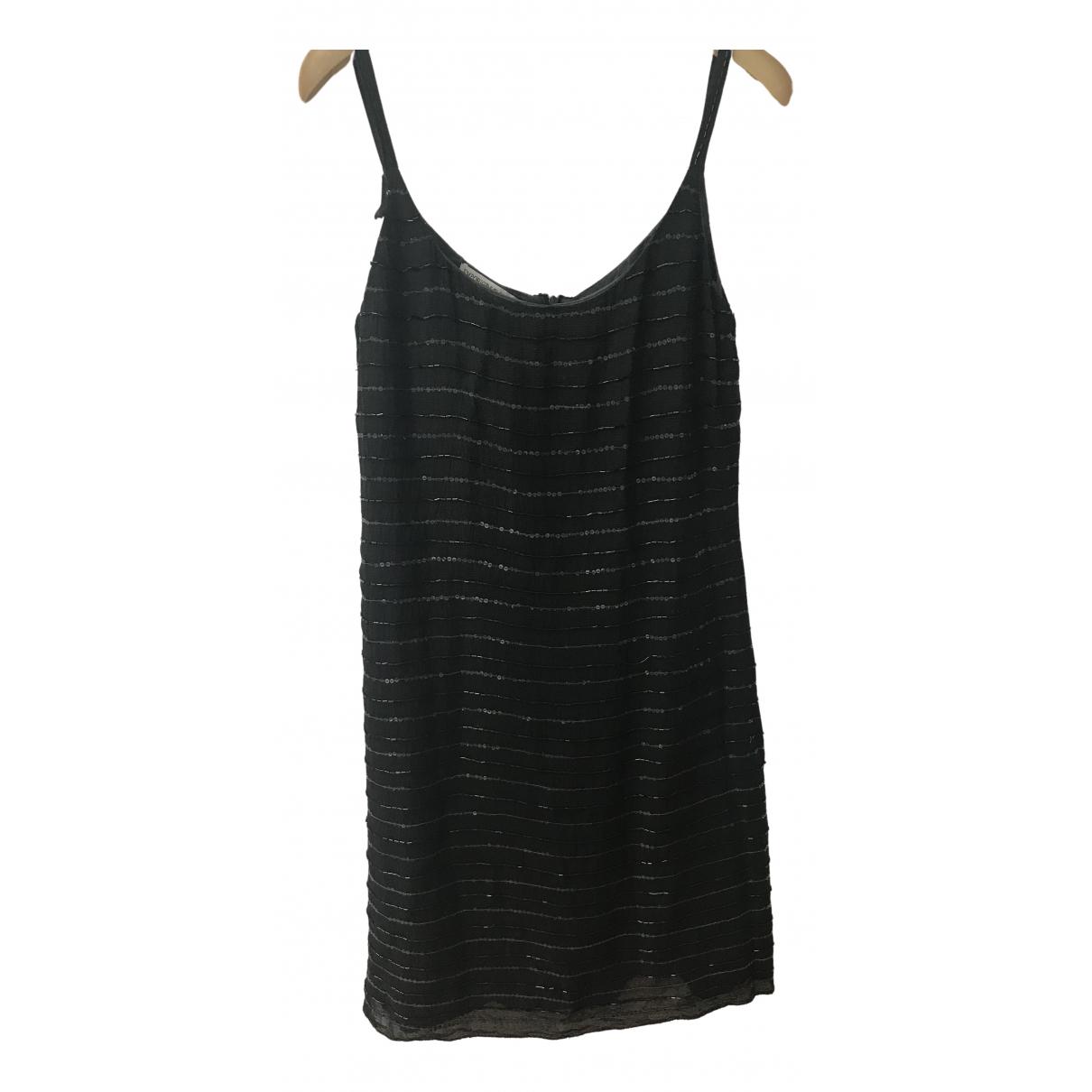 Emporio Armani - Robe   pour femme en soie - noir