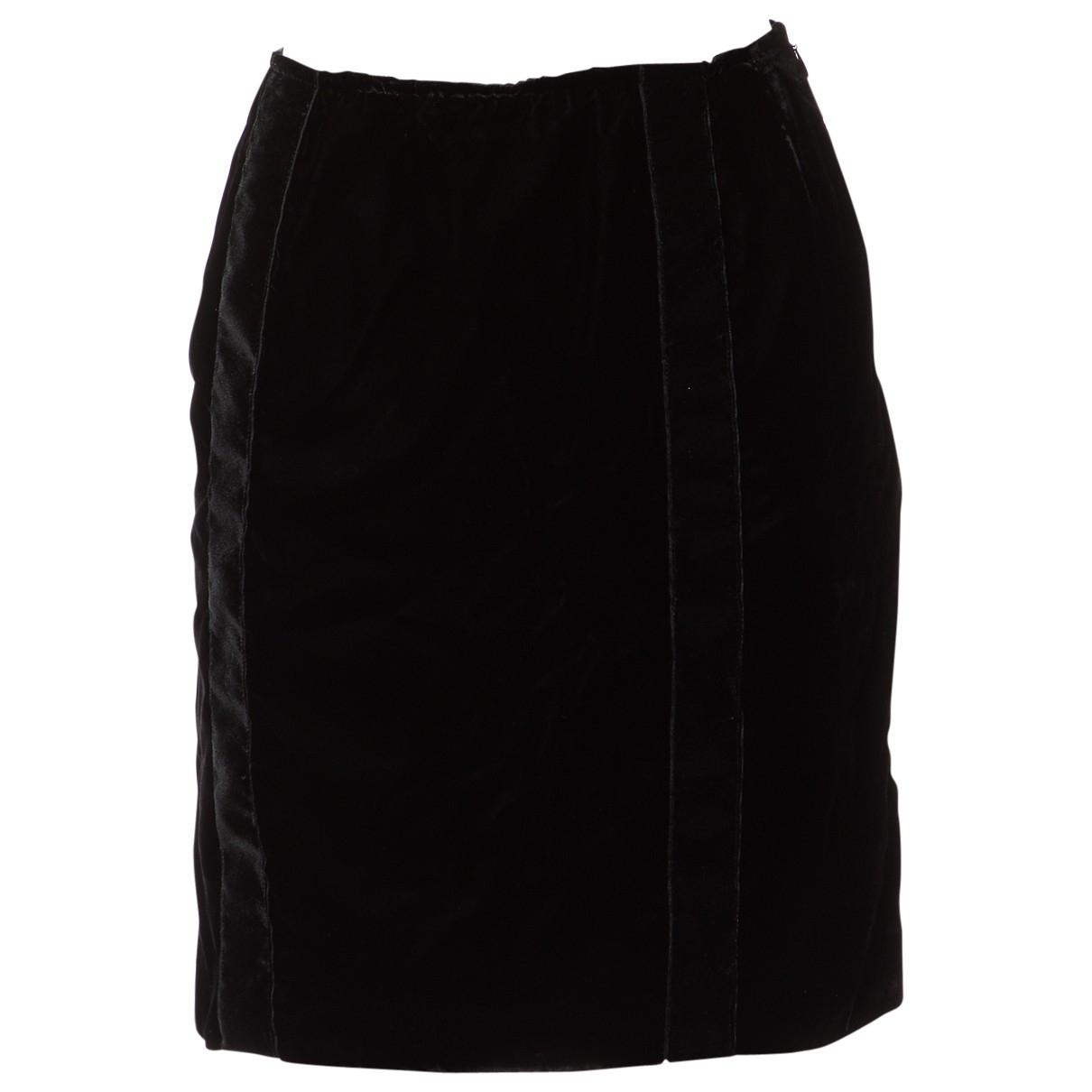 Chanel - Jupe   pour femme en velours - noir