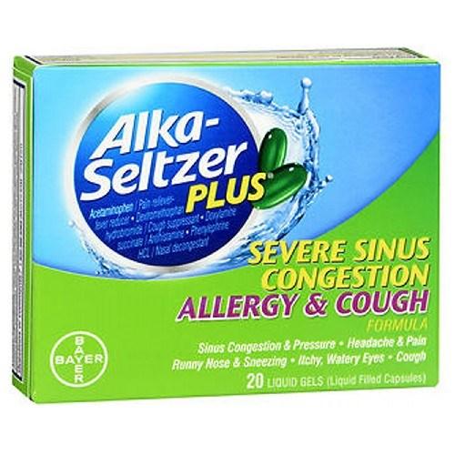 Alka-Seltzer Plus Sinus Congestion 20 Each by Bayer