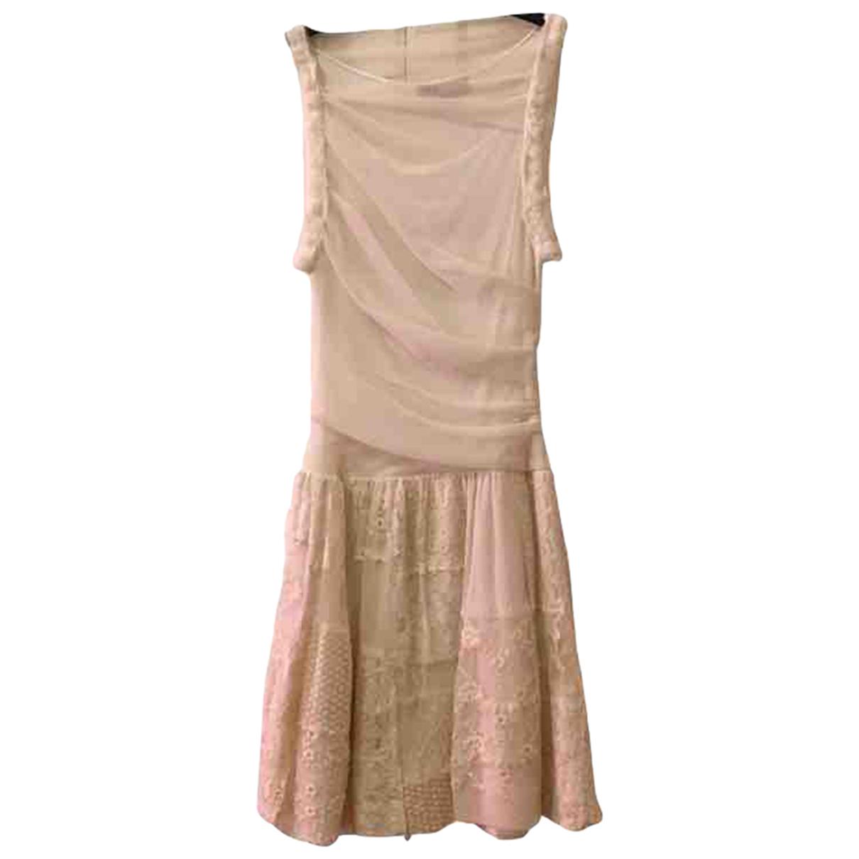 Maje \N Kleid in  Beige Baumwolle