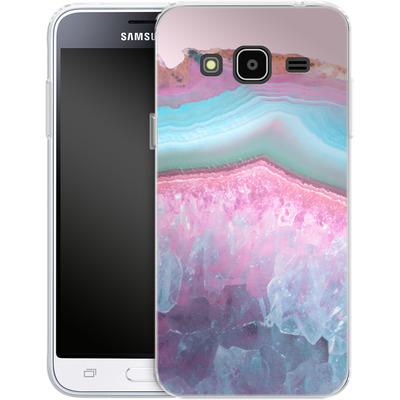 Samsung Galaxy J3 (2016) Silikon Handyhuelle - Serenity Rose Quartz Agate von Emanuela Carratoni