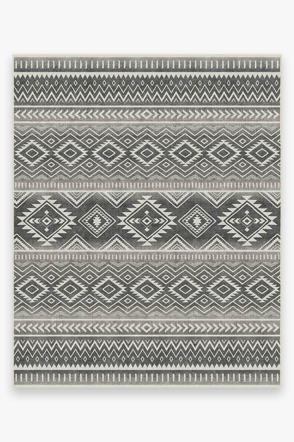 Washable Rug Cover   Arizona Grey Rug   Stain-Resistant   Ruggable   8'x10'