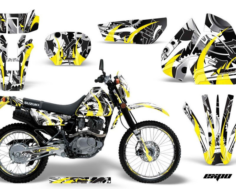 AMR Racing Graphics MX-NP-SUZ-DRZ200SE-96-09-EX Y Kit Decal Sticker Wrap + # Plates For Suzuki DRZ200SE 1996-2009áEXPO YELLOW