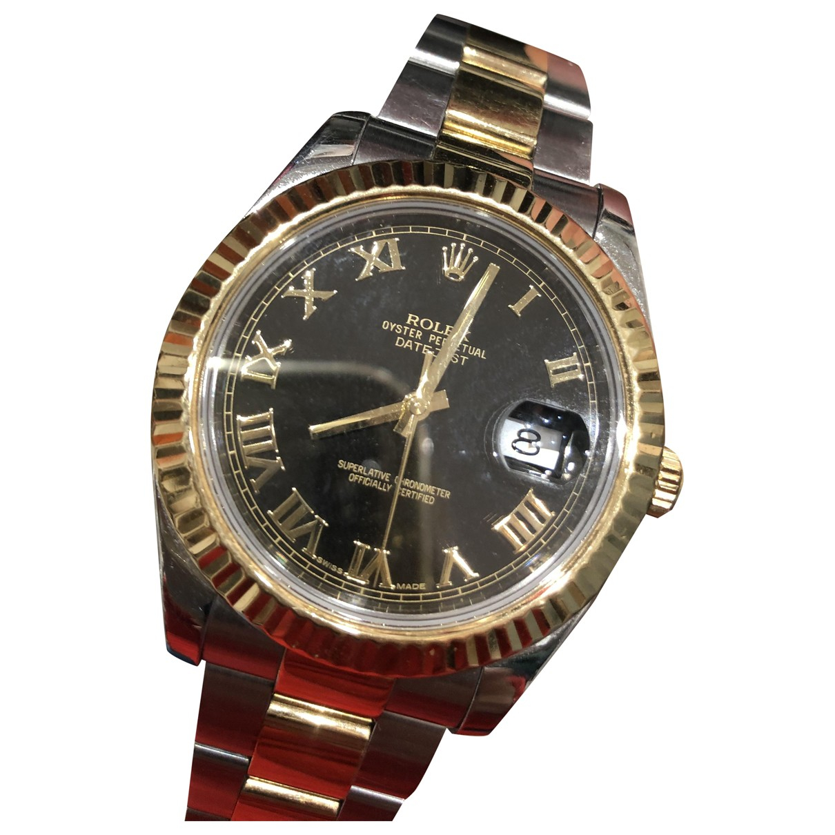 Rolex DateJust II 41mm Uhr in  Schwarz Gold und Stahl