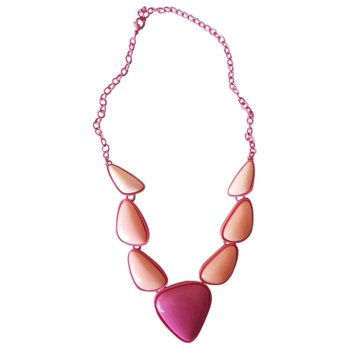 Non Signé / Unsigned \N Pink necklace for Women \N