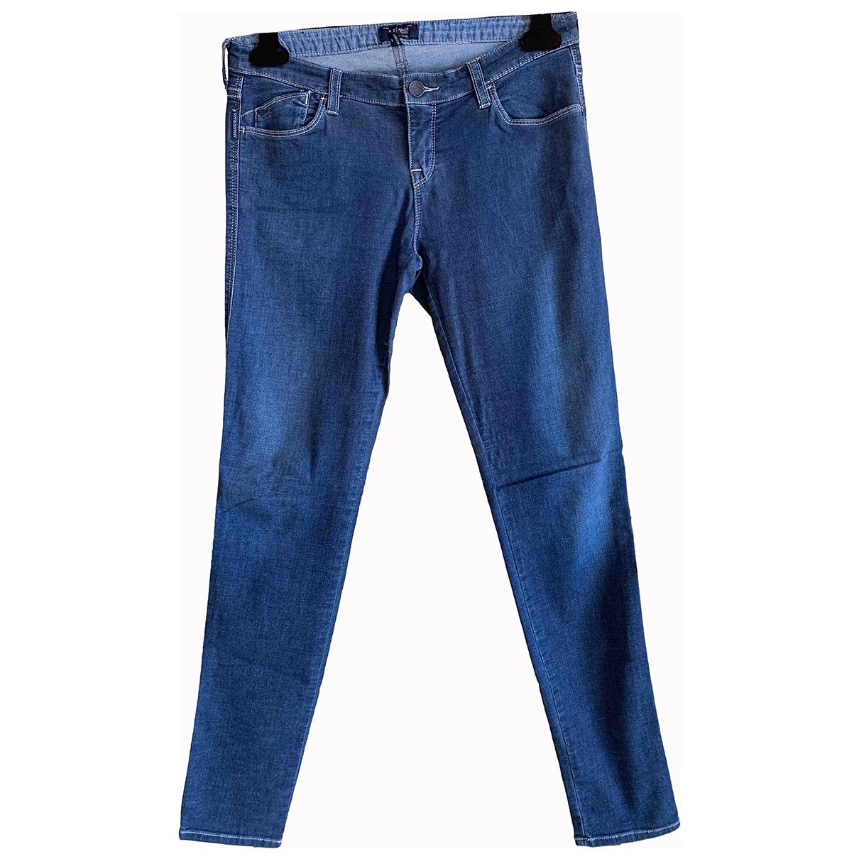 Armani Jeans \N Blue Cotton Jeans for Women 28 US
