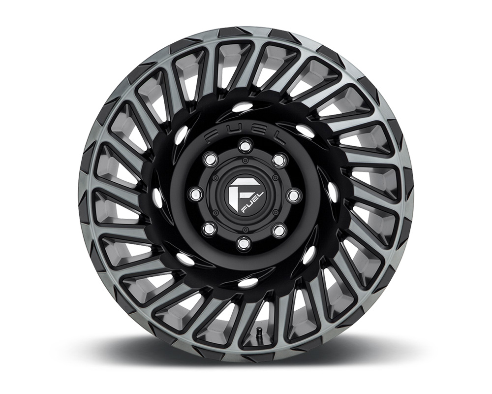 Fuel D683 Cyclone Matte Black & Machined w/ DDT 1-Piece Cast Wheel 18x9 6x135 -12mm