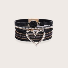 Armband mit Strass Herzen Dekor