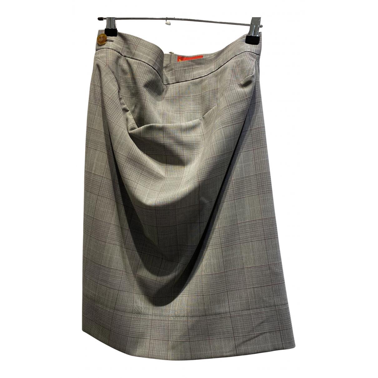 Vivienne Westwood Red Label - Jupe   pour femme en laine - gris