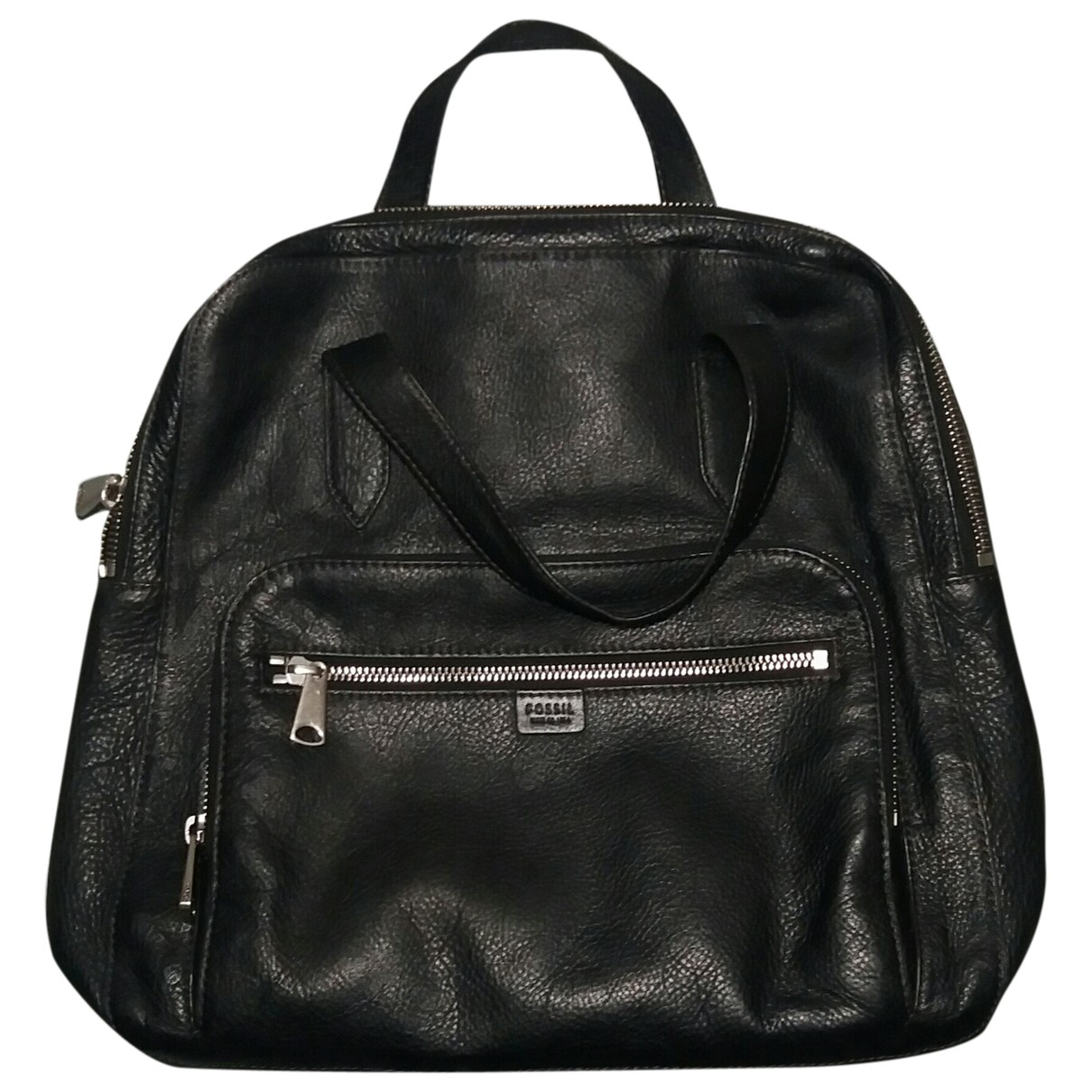 Fossil \N Black Leather backpack for Women \N