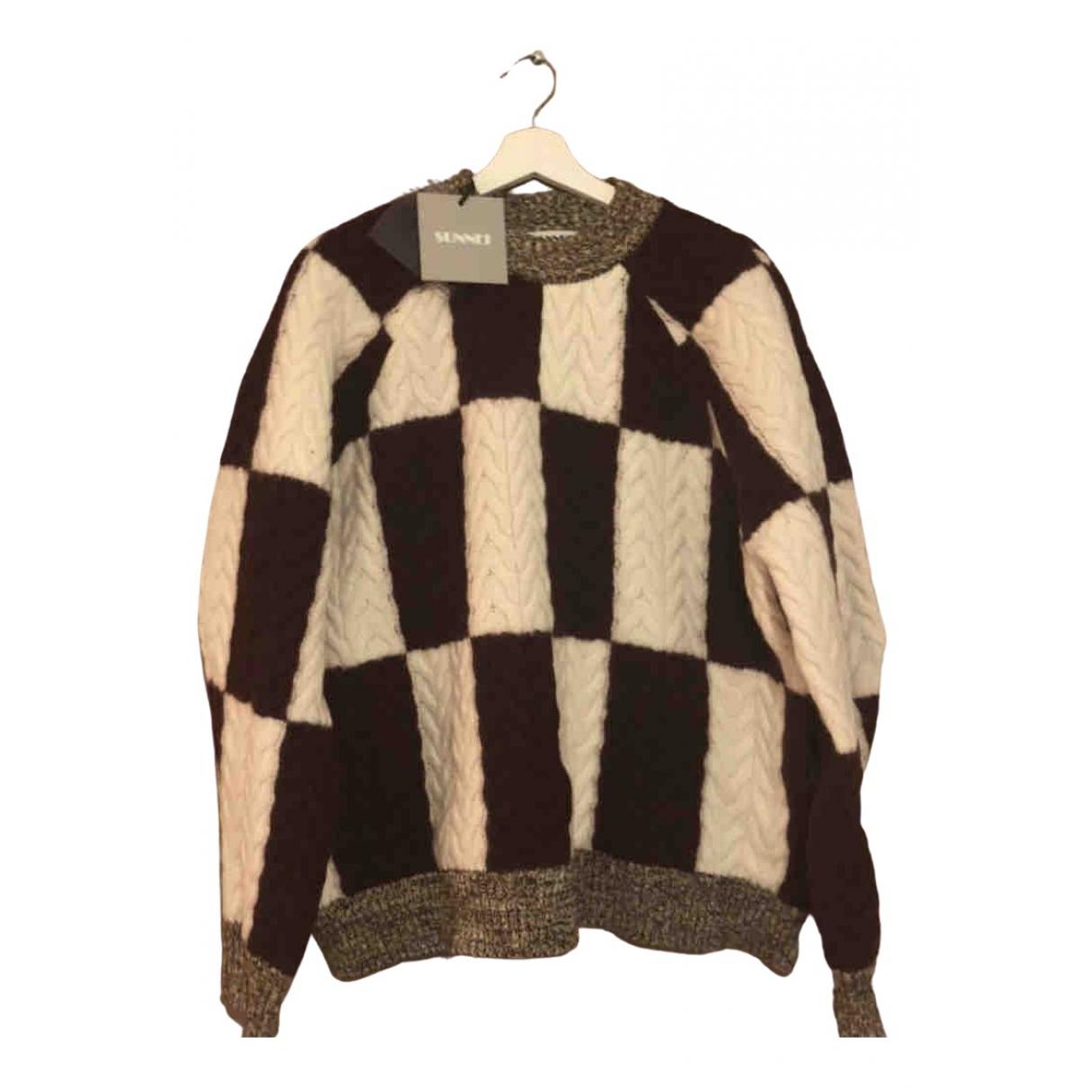 Sunnei \N Pullover.Westen.Sweatshirts  in  Bordeauxrot Wolle